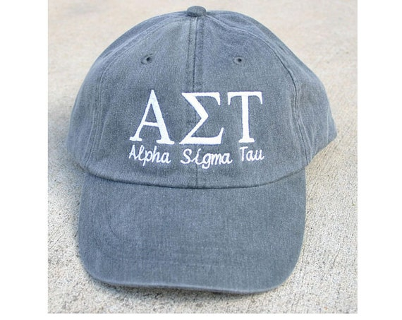 Alpha Sigma Tau with script baseball cap