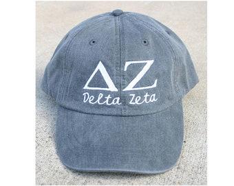 5034186a5f14a Delta Zeta with script baseball cap