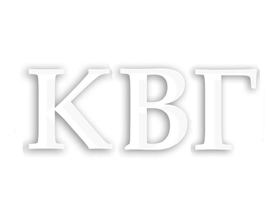 Kappa Beta Gamma Window Decal