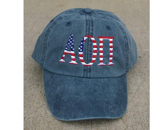 Alpha Omicron Pi American Flag Cap