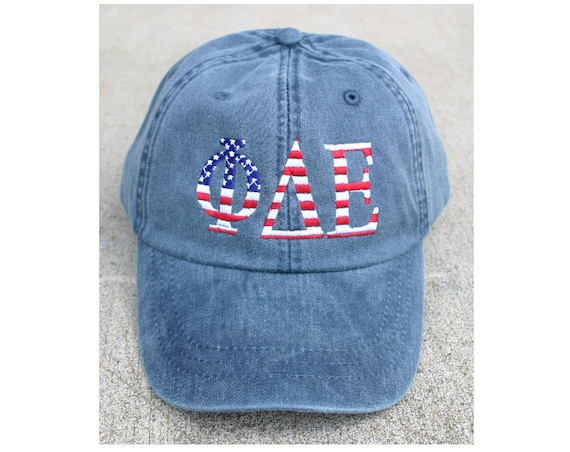 Phi Delta Epsilon American Flag Cap