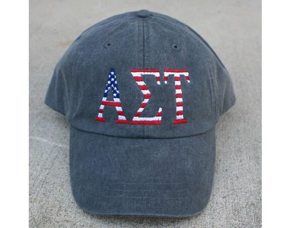 Alpha Sigma Tau American Flag Cap