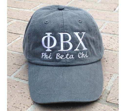 Phi Beta Chi with script baseball cap