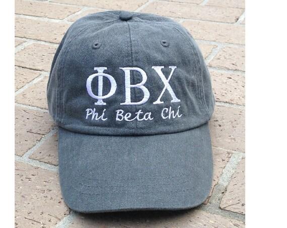 Phi Beta Chi with script baseball cap