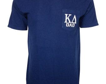 2bdf9693a Kappa Delta Dad Comfort Color Pocket T-shirt