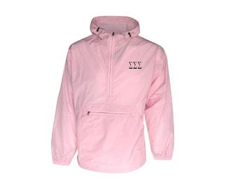 Sigma Sigma Sigma Unlined Anorak (Pink)