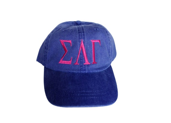 Sigma Lambda Gamma baseball cap with embroidered greek letters