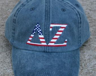 Delta Zeta American Flag Cap