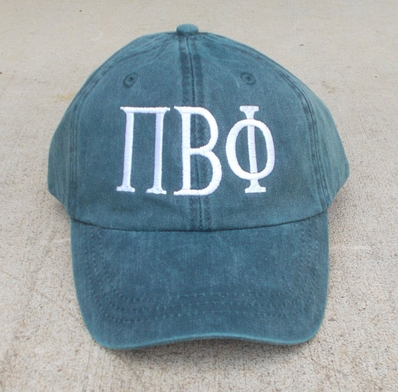 Custom Greek Letter Baseball Cap