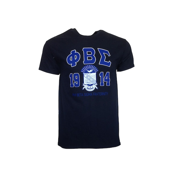 Phi Beta Sigma Black Printed T-shirt