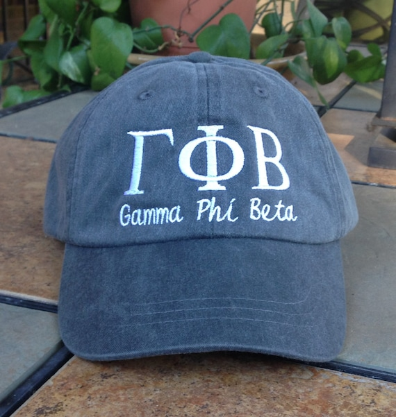 Gamma Phi Beta with script baseball cap