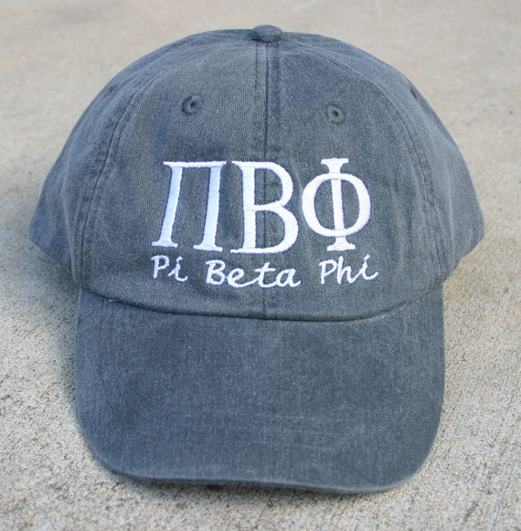 Pi Beta Phi with script baseball cap