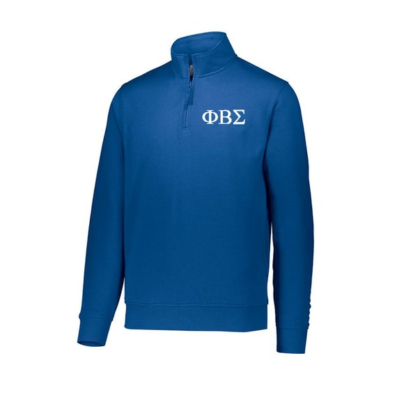 Phi Beta Sigma Fleece Quarter Zip Pullover