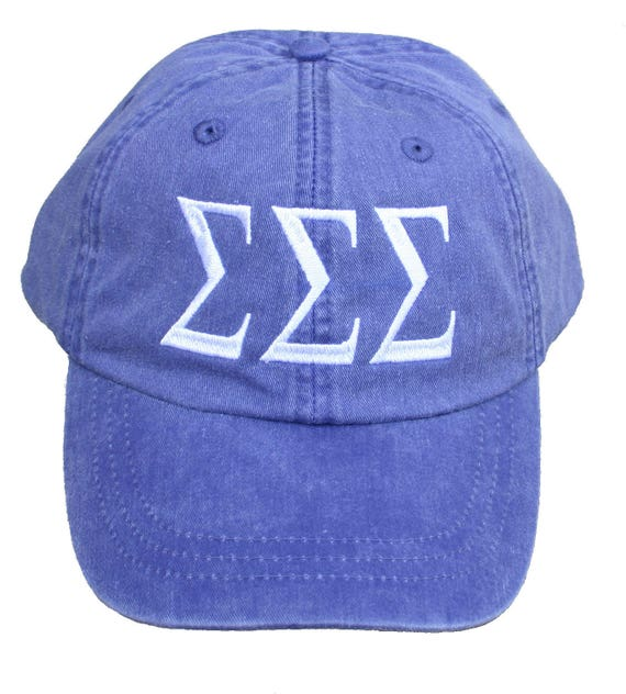 Sigma Sigma Sigma baseball cap with embroidered greek letters