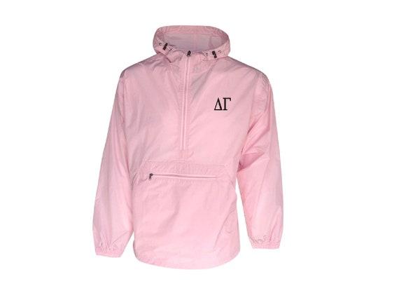 Delta Gamma Unlined Anorak (Pink)