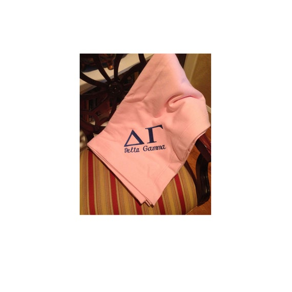 Delta Gamma Embroidered Fleece Blanket
