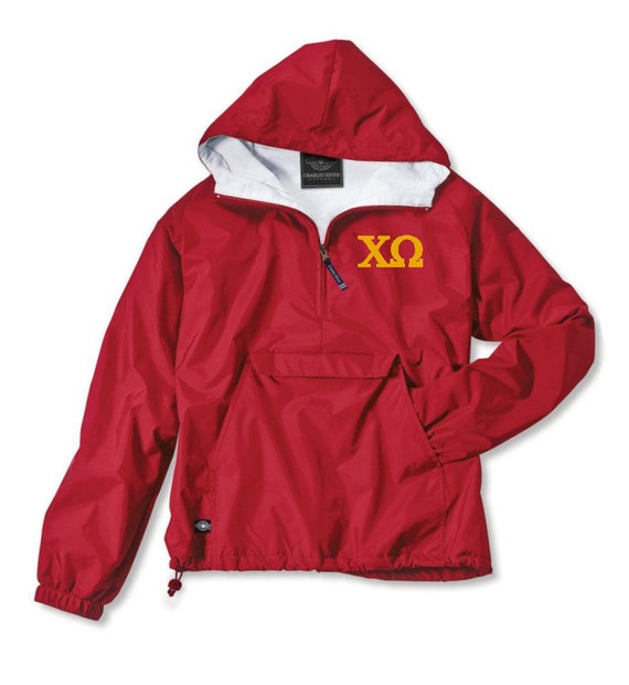 Chi Omega Lined Anorak (Red)