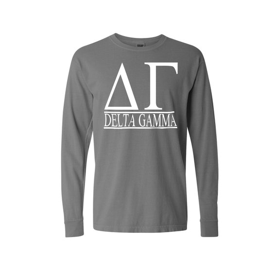 Delta Gamma Bar Design Long Sleeve T-shirt