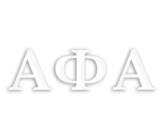 Alpha Phi Alpha Window Decal