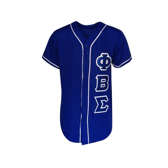 Phi Beta Sigma Custom Baseball Jersey