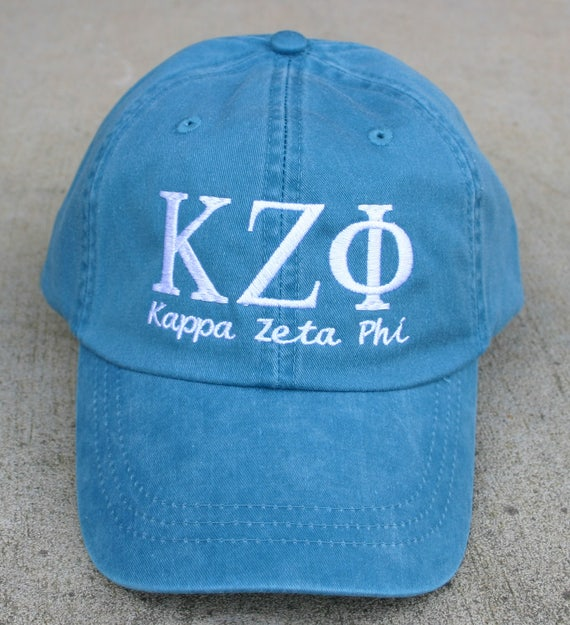 Kappa Zeta Phi with script baseball cap