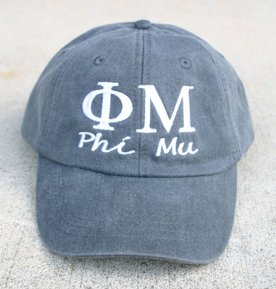 Phi Mu with script baseball cap