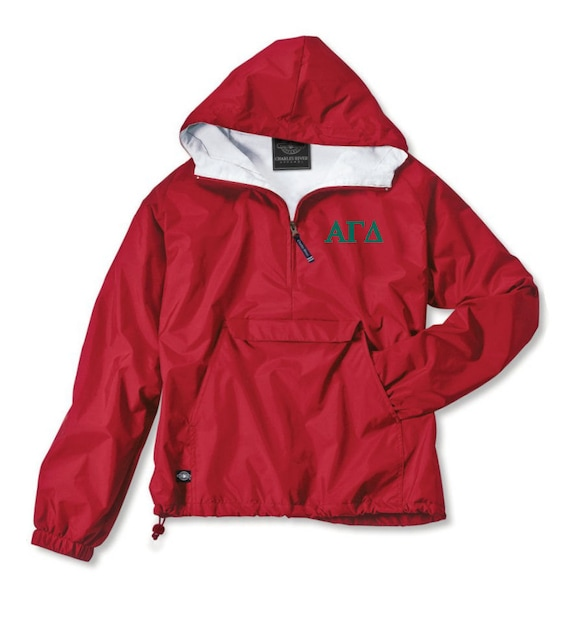 Alpha Gamma Delta Lined Anorak (Red)