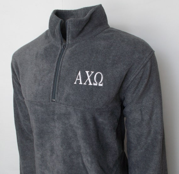 Alpha Chi Omega Fleece Quarter Zip Pullover