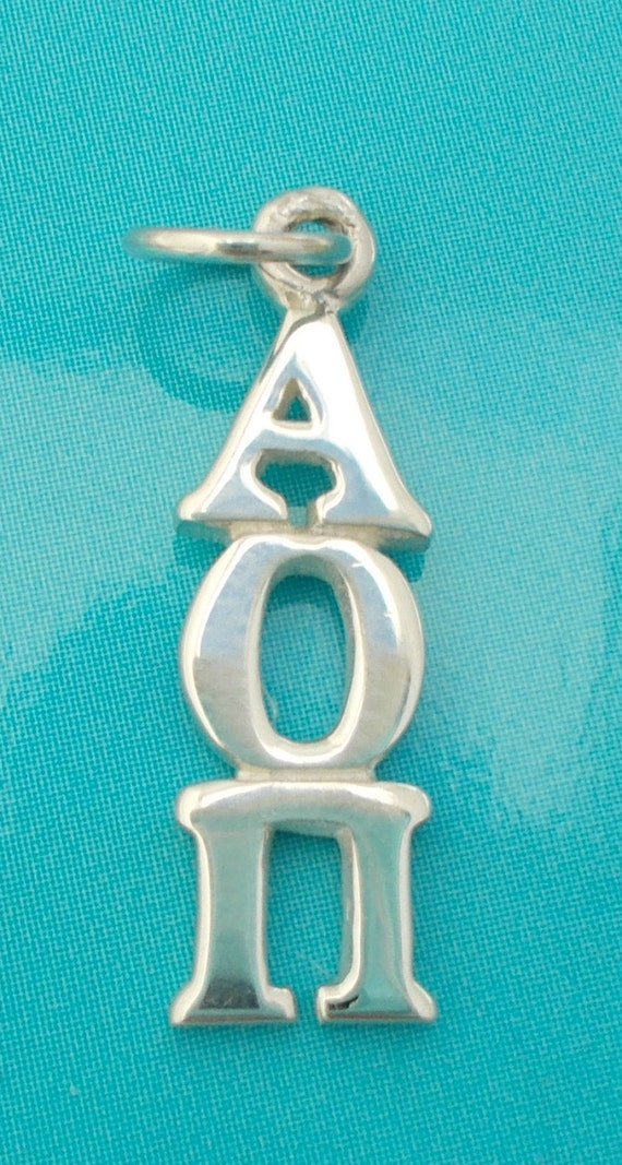 Alpha Omicron Pi Sterling Silver Lavalier