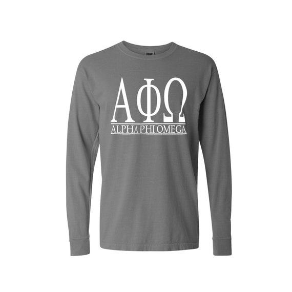 Alpha Phi Omega Bar Design Long Sleeve T-shirt