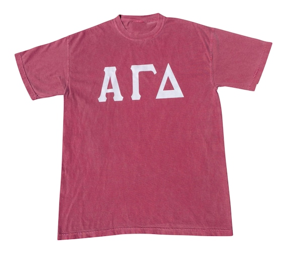 Alpha Gamma Delta - T-shirt with white vinyl letters NEW