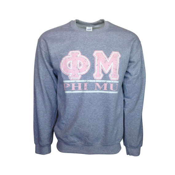 Phi Mu Bar Design Sweatshirt