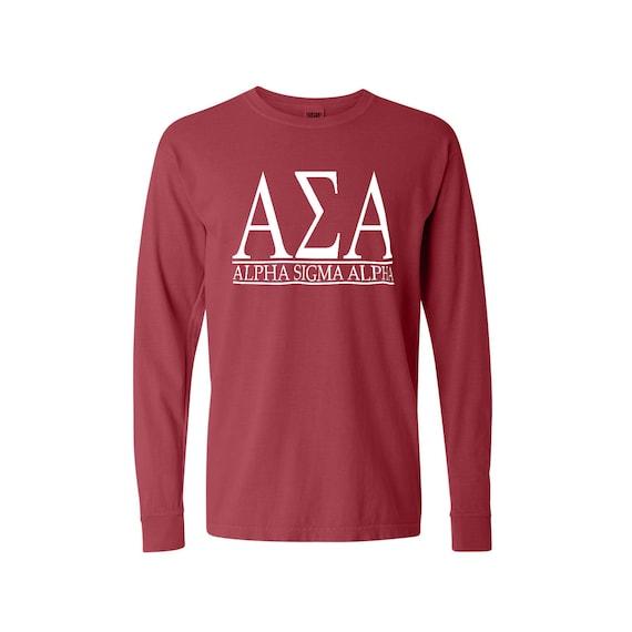 Alpha Sigma Alpha Bar Design Long Sleeve T-shirt