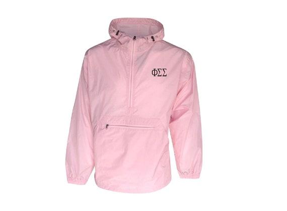 Phi Sigma Sigma Unlined Anorak (Pink)