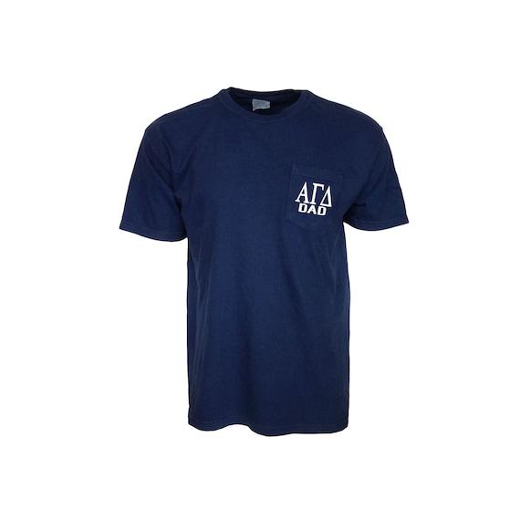 Alpha Gamma Delta Dad Comfort Color Pocket T-shirt