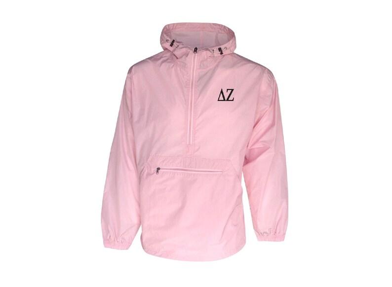 Delta Zeta Unlined Anorak Pink