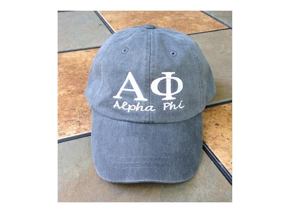 Alpha Phi script baseball cap