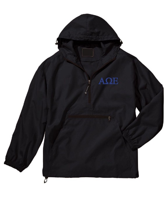 Alpha Omega Epsilon Unlined Anorak (Black)