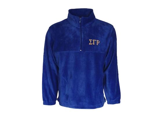 Sigma Gamma Rho Fleece Quarter Zip Pullover (Royal Blue)