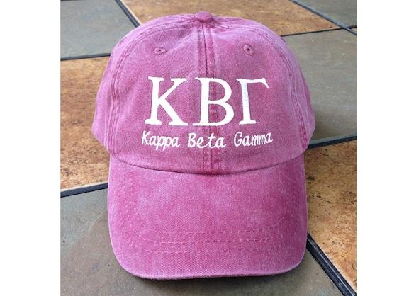 Kappa Beta Gamma script baseball cap