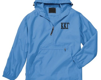 Kappa Kappa Gamma Unlined Anorak (Light Blue)