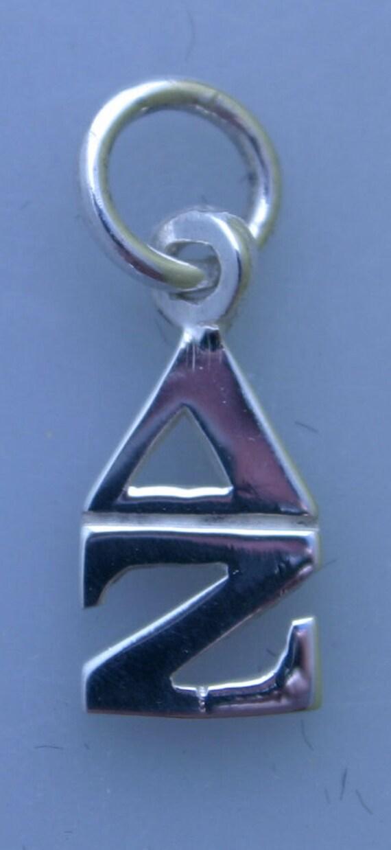 Delta Zeta Sterling Silver Lavalier