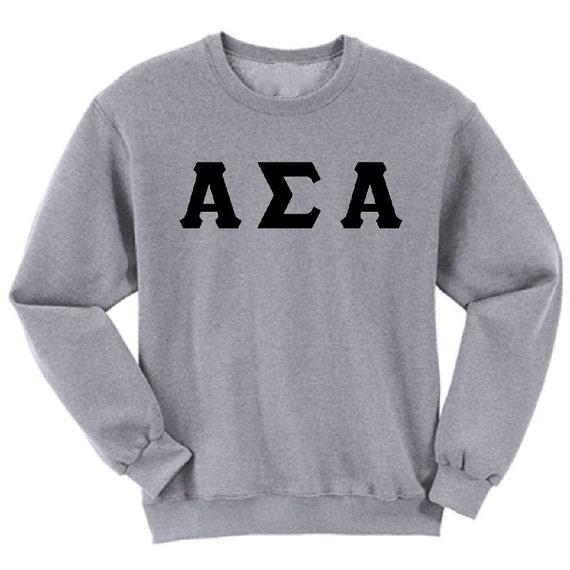 Alpha Sigma Alpha - Athletic Grey Sweatshirt