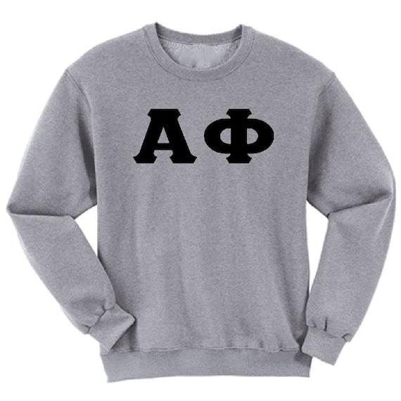 Alpha Phi - Athletic Grey Sweatshirt