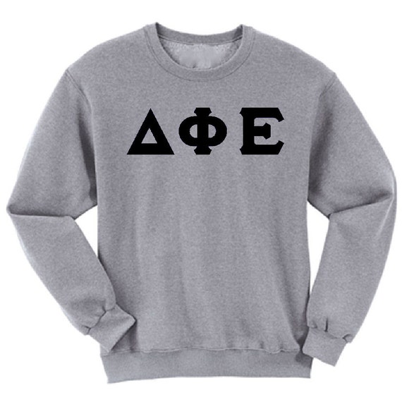 Delta Phi Epsilon - Athletic Grey Sweatshirt