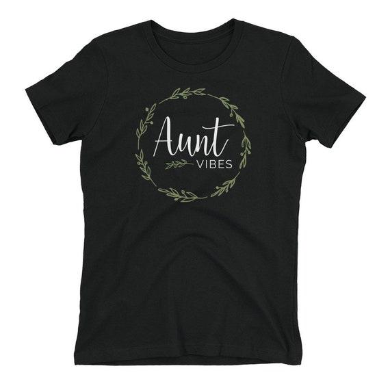 c4b529bf3 Aunt Vibes Short Sleeve T-Shirt | Etsy