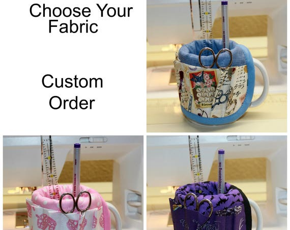 Choose Your Fabric Mug Organizer Caddy