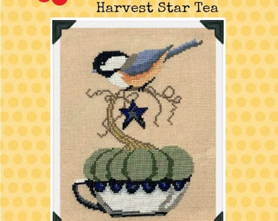 PDF INSTANT DOWNLOAD Harvest Star Tea Cross Stitch Chart