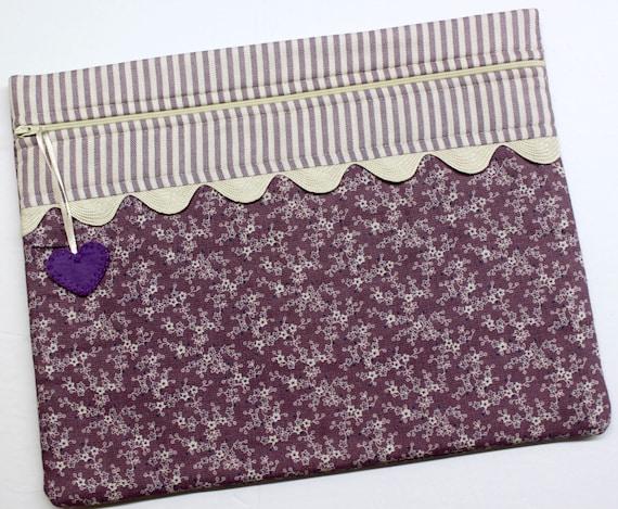 Primitive Purple Cross Stitch Project Bag