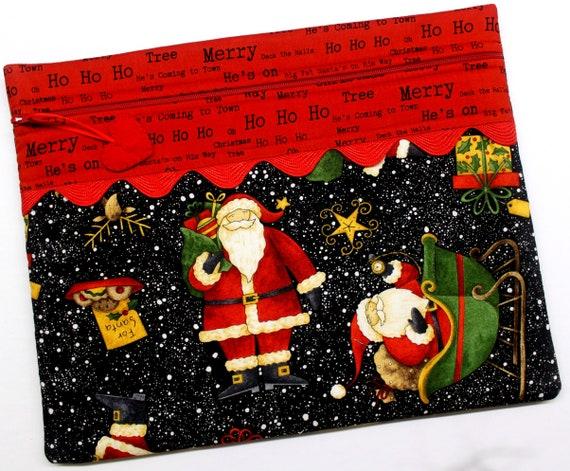 Santa's Big Night Cross Stitch Project Bag